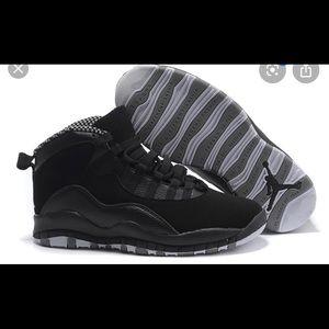 Air Jordan 10s in Black size 12 men's